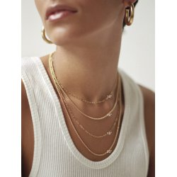 gold plated diamond name necklace - capital letters