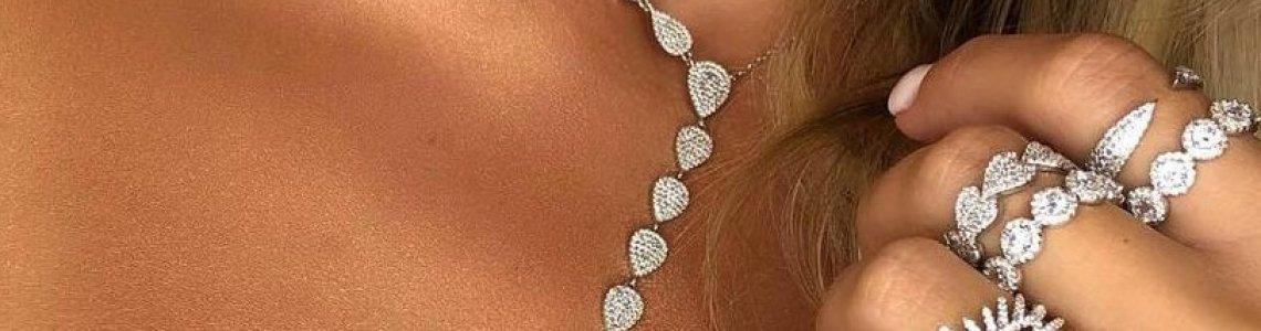 Cubic zircon necklaces