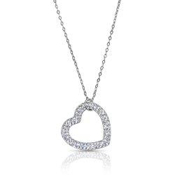 swarovski heart necklace - 925 sterling silver