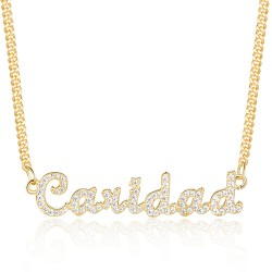 diamond name necklace