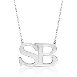 Large Initial Letters Necklace- 925 sterling silver
