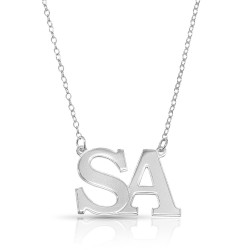 Initial Letters Necklacein sterling silver