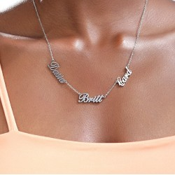 Multiple Name Necklace in 925 sterling silver