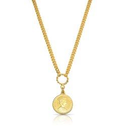 Queen Elizabeth coin pendant necklace