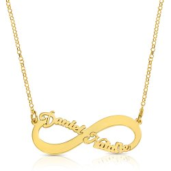 18K gold Plated Infinity Necklace With 2 Names