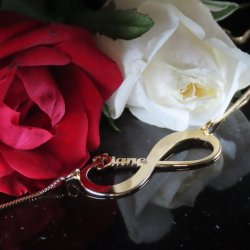 Gold Infinity Necklace with Name