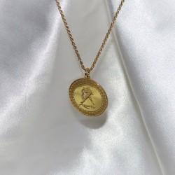 gold plated zodiac pendant :Aquarius