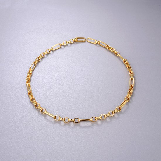 paperclip chain necklace - 18k gold plated