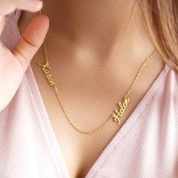 Multiple Name Necklace in 18k gold plated silver