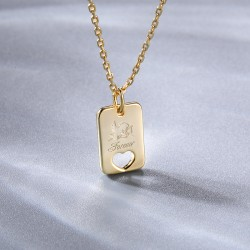 Cupid heart necklace 18k gold plated silver