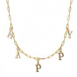Letters choker necklace