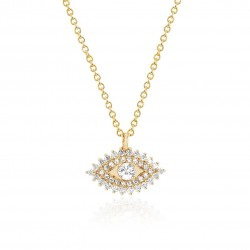Evil eye necklace in 18k gold plated sterling silver