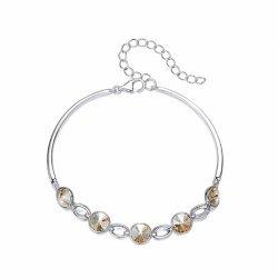 elegant silver bracelet with crystals from swarovski