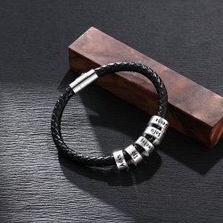 men bracelet with custom beads in 925 sterling silver