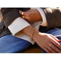 gold plated paperclip bracelet