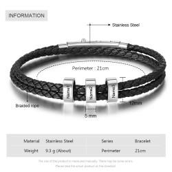 men bracelet with custom beads