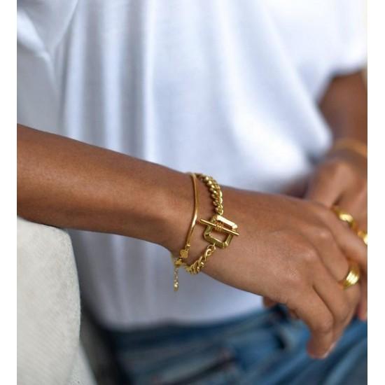 Cuban chain bracelet - square bar