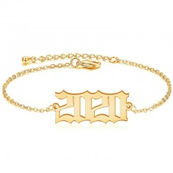 Personalized Birth Year Bracelet