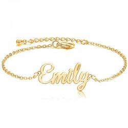 Personalized Name Bracelet in 18k Gold Plating