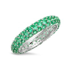 emerald zirconia ring in sterling silver