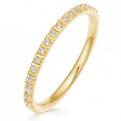 Eternity ring 925 sterling silver and a row of  zircon stones
