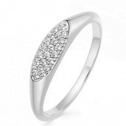 Oval ring 925 sterling silver and cz stones