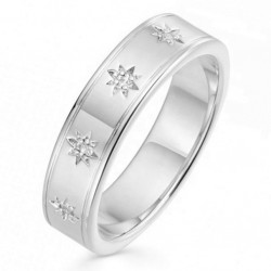 Eternity ring 925 sterling silver and a row of stars