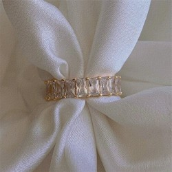 Cubic Zirconia Eternity Ring - 18k rose gold plated