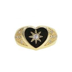 gold plated vintage design signet ring