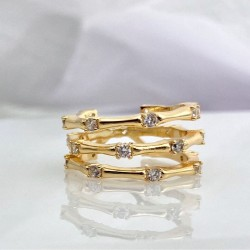 Gold Plated Cubic Zirconia ring
