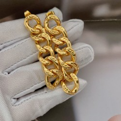 classic drop earrings 18k gold plated