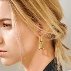 U shape link earrings