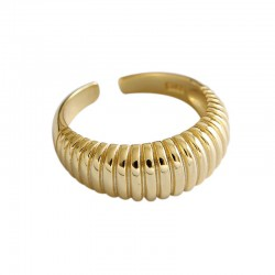 sterling silver classic ring 18k gold plated