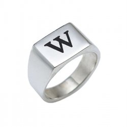 Silver Rectangle Ring