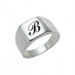 Silver Rounded Square Ring